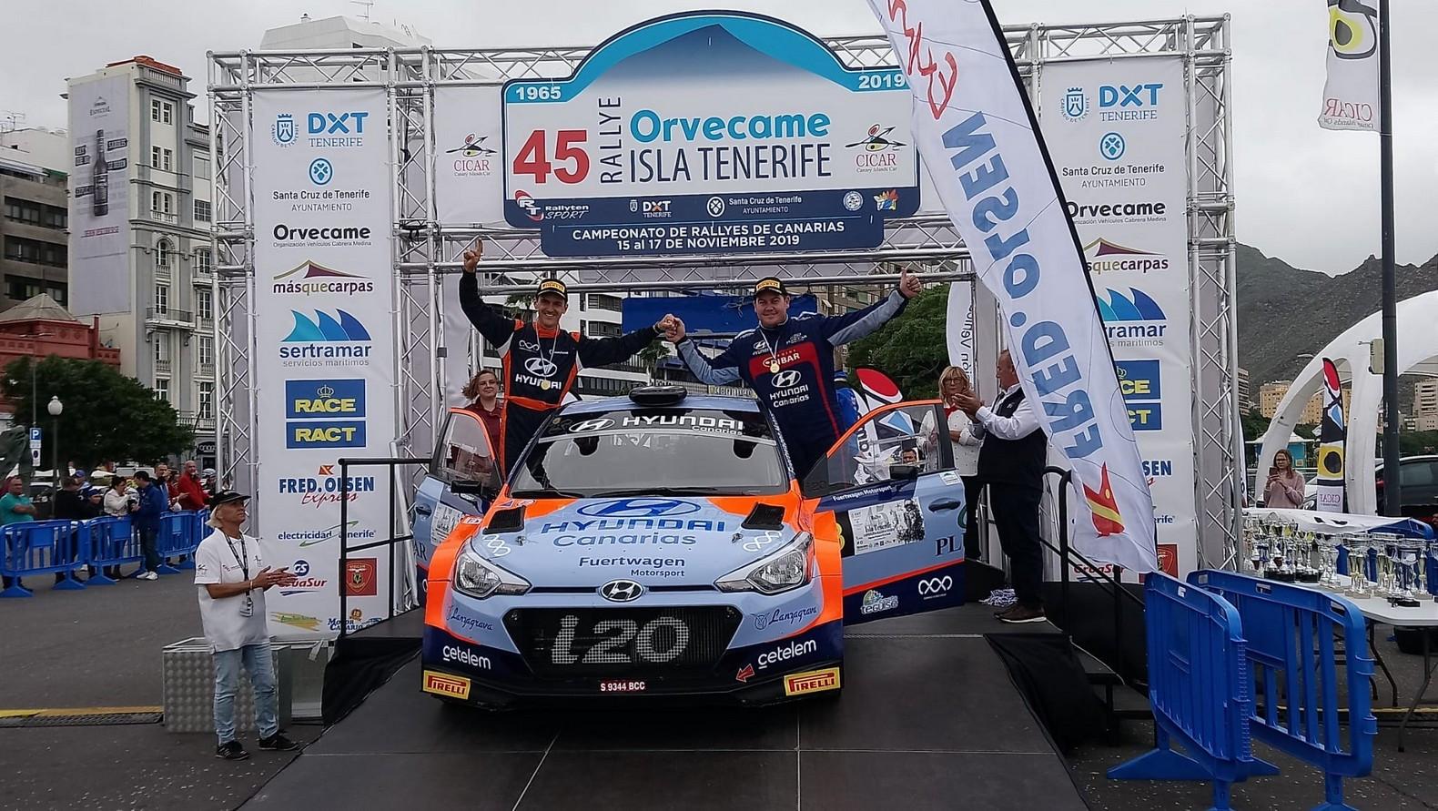 Yeray Lemes podio Rally Isla Tenerife