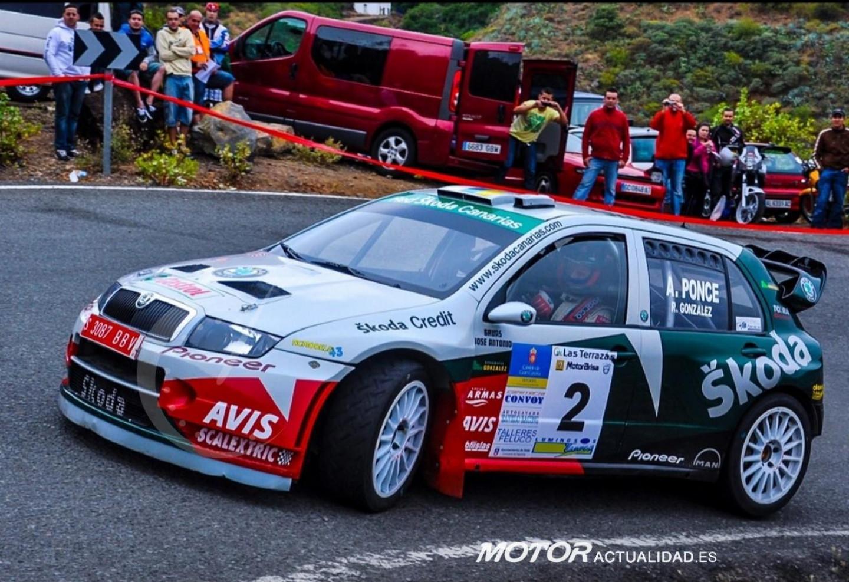 Toñi Ponce.Skoda WRC.Los Picos