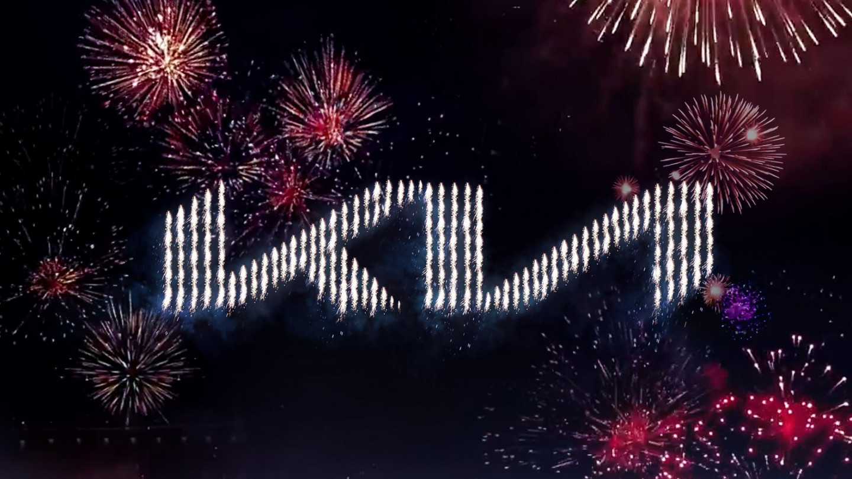Kia's new logo pyrodrones(2)