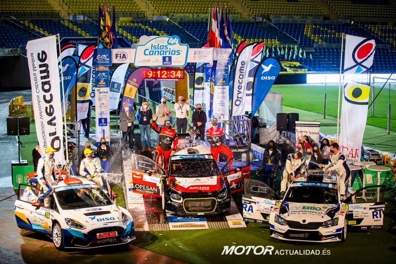 Rally Islas Canarias.podio final 2020